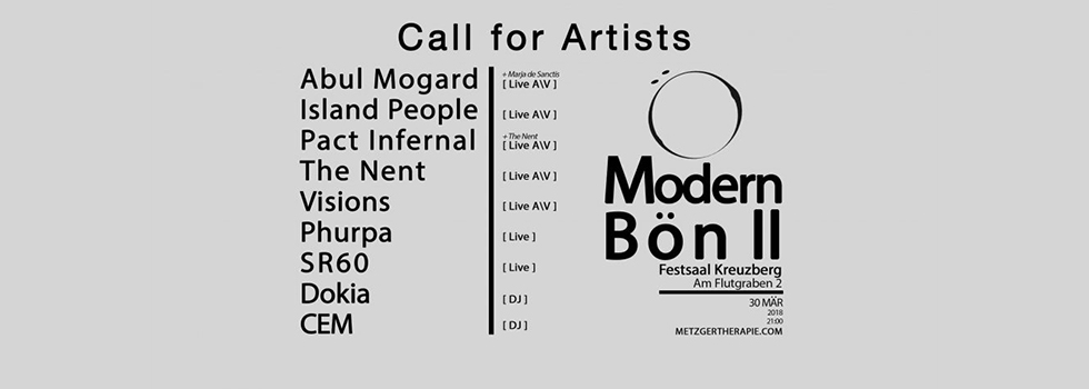 modern bon ii artists call for artists